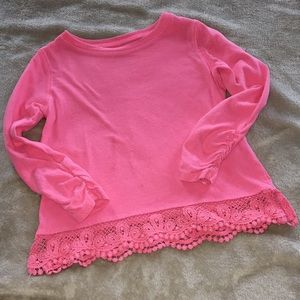 Carter's 4T Top with lace bottom. GUC